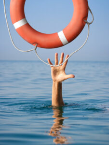 private student loan debt - drowning